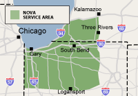 Our Indiana and Michigan Service Area